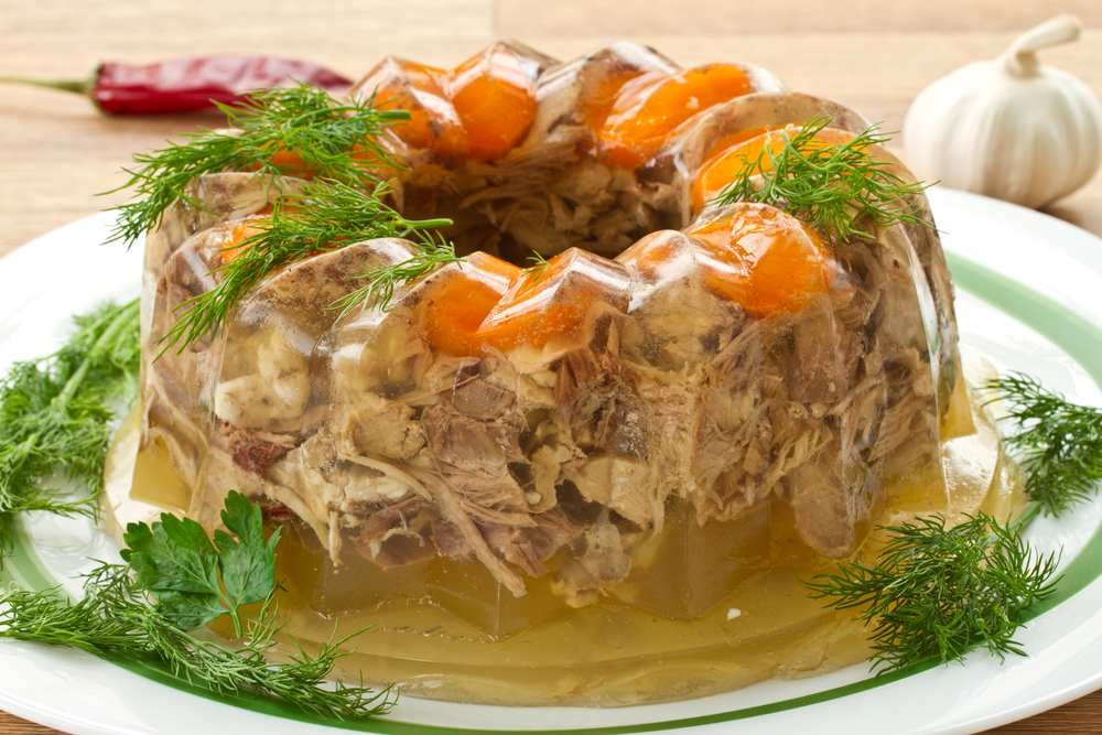 Aspic in a Bundt pan